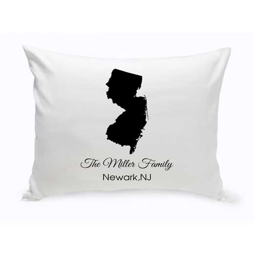 GC1380-NJ: Blk Prsnlzed Home StThrowPillowNewJersey